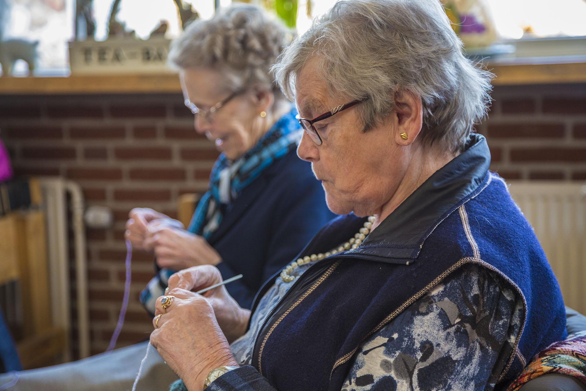 Haken is een van de vele activiteiten in Vitaal Dorp Everdingen